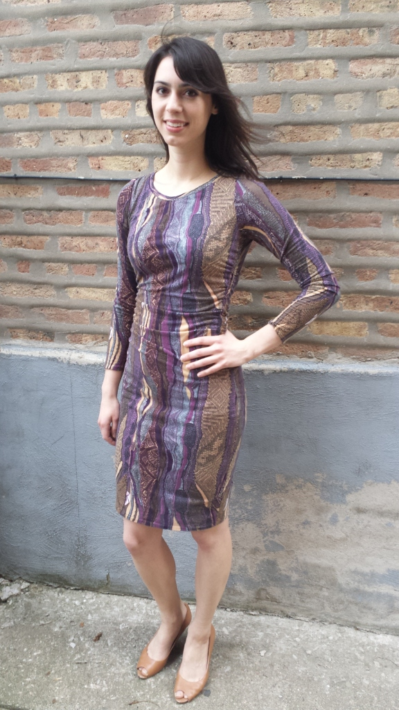 bodycon knit dress, sewing