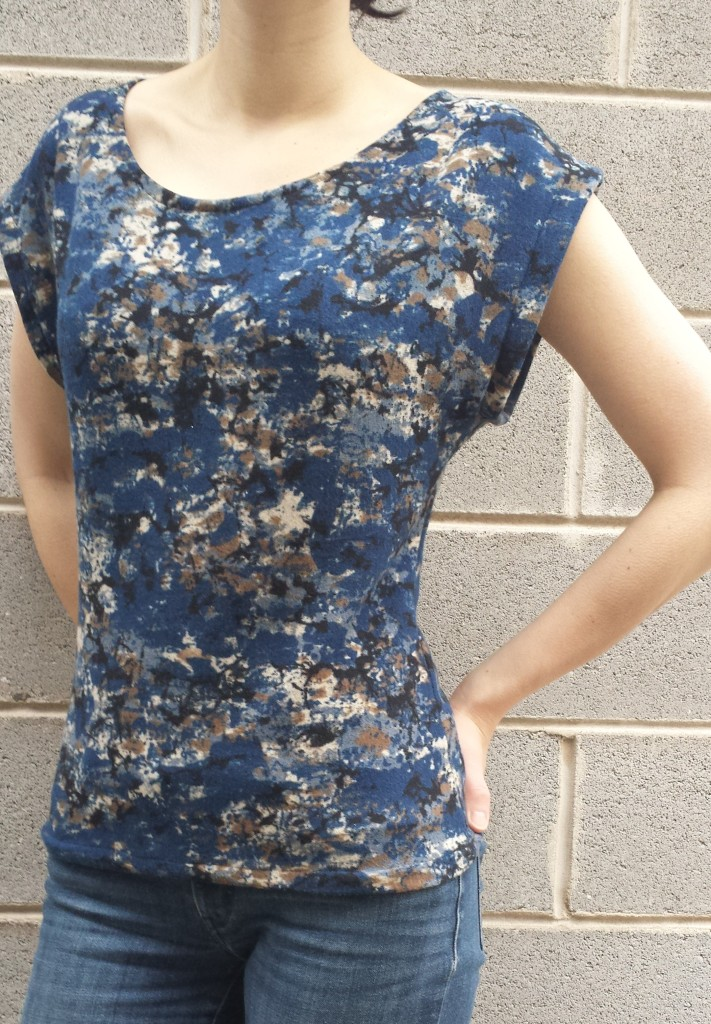 sewing, sweater-knit top, pattern drafting