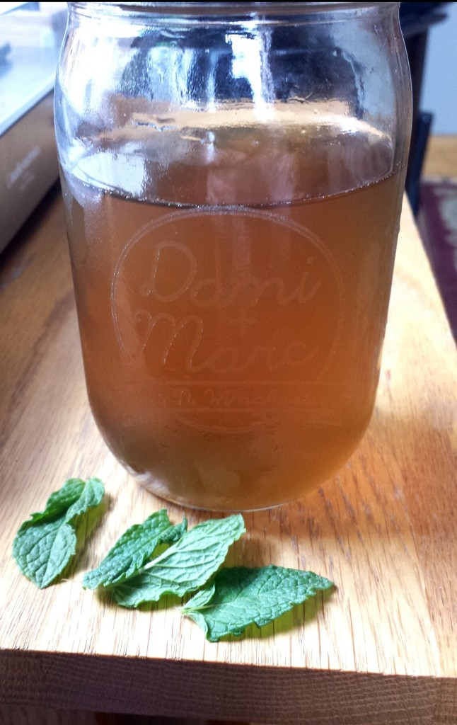 make your own mint simple syrup