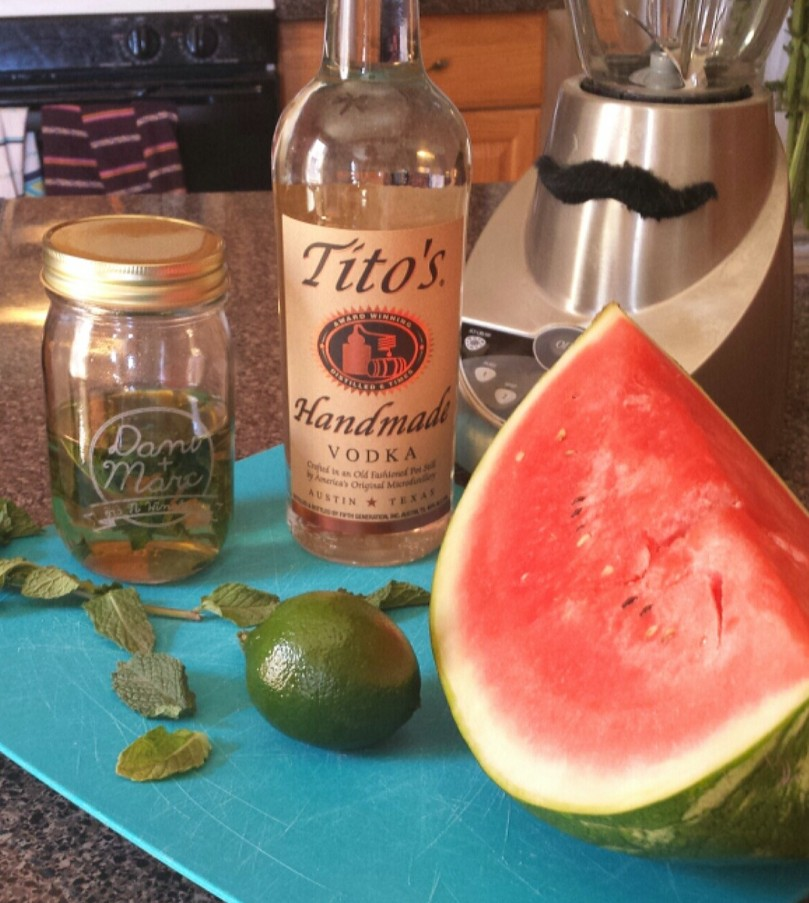 watermelon mint agua fresca with vodka recipe