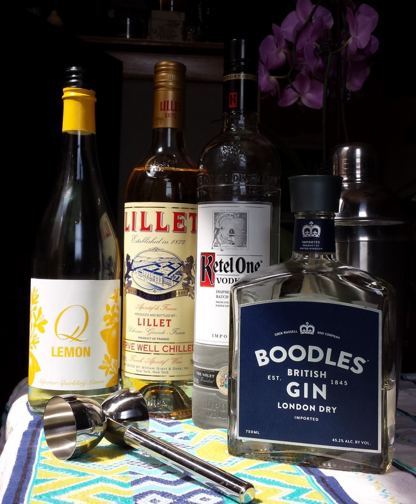 ketel one, boodles gin, Q lemon, Lillet Blanc