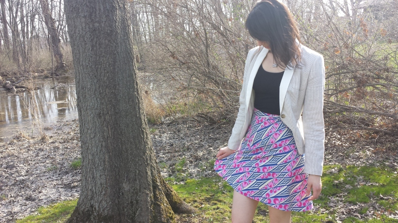 spring quarter-circle skirt