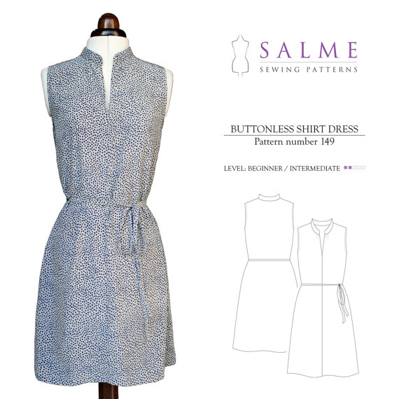 Salme Patterns 149 shirtdress pattern