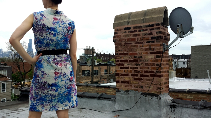 handmade shirtdress on the rooftop
