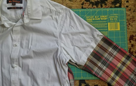 sewing a long sleeve into short sleeve