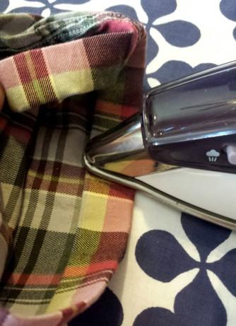 ironing a sleeve hem