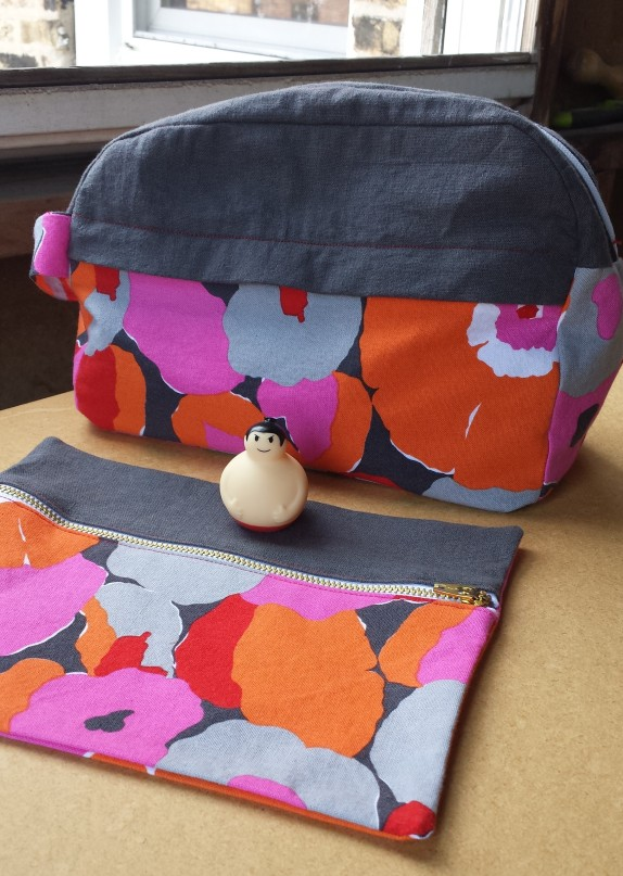 sewing portside dopp kit by grainline studio