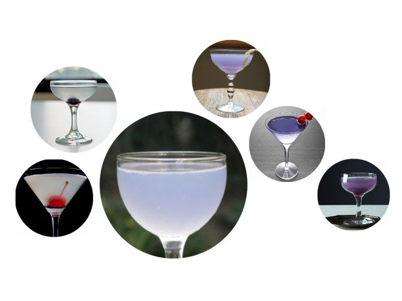 aviation cocktails of all colors