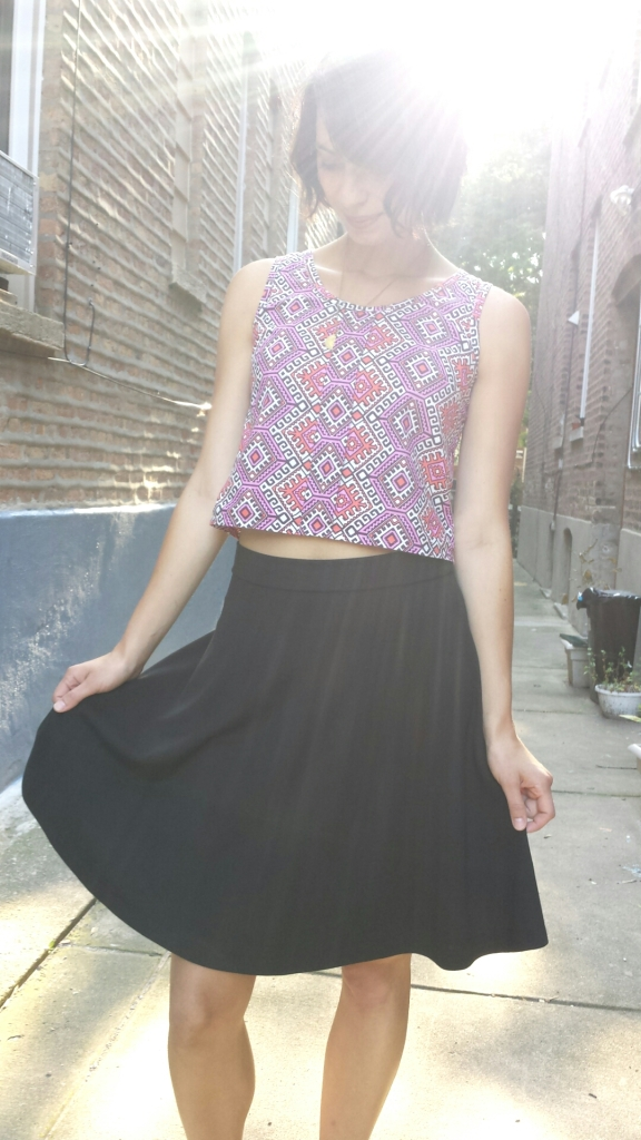 knit half-circle skirt