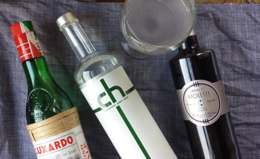 aviation cocktail recipe with luxardo, gin, and creme de violette