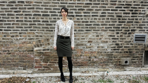 how to style a knit skirt