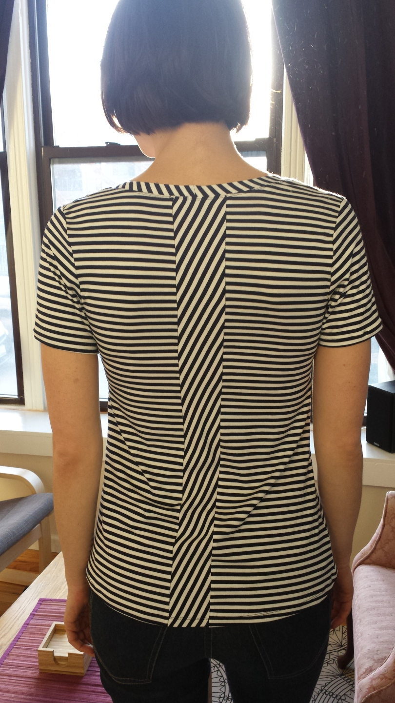 deer and doe plantain tee geometric stripes