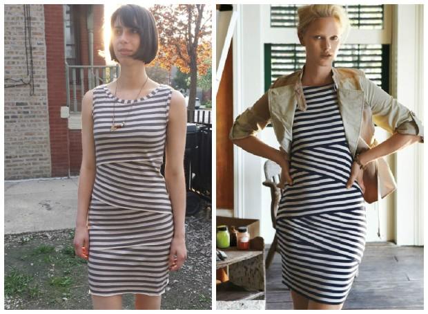 v8904 anthropologie bailey 44 dress comparison