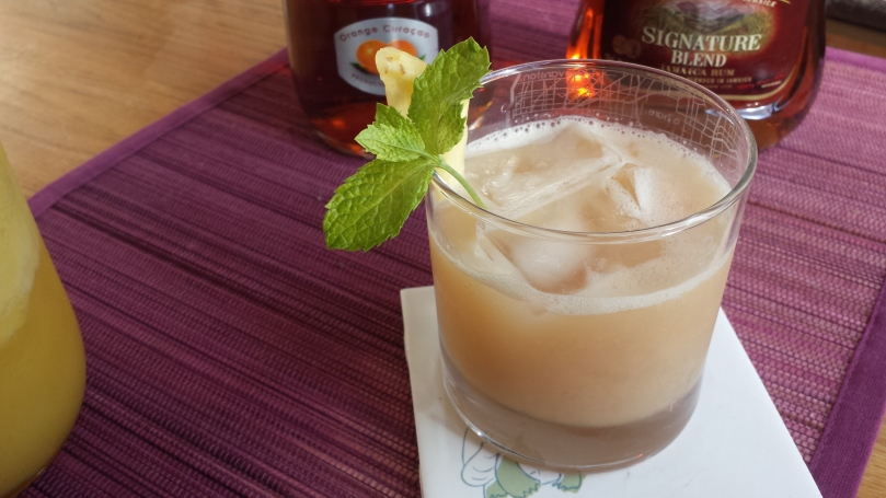 mai tai with homemade orgeat