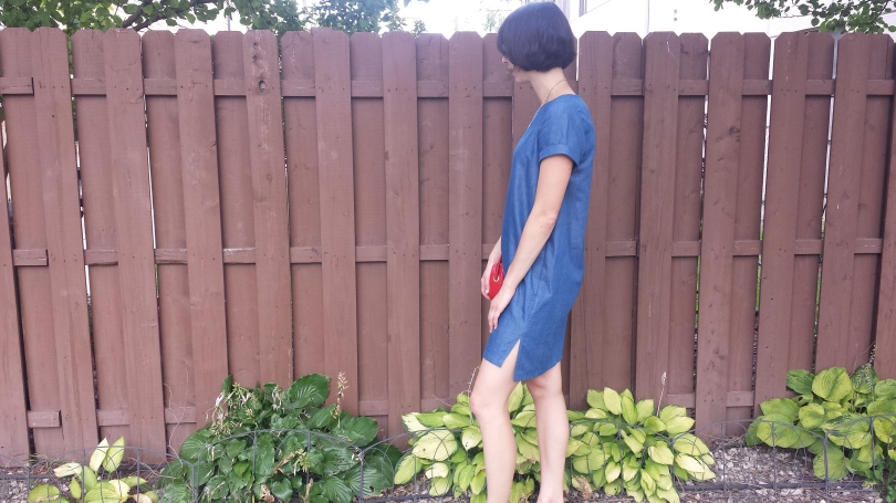inari tee dress in tencel denim