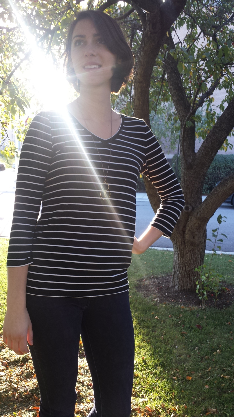 lark tee 3/4 sleeves grainline studio