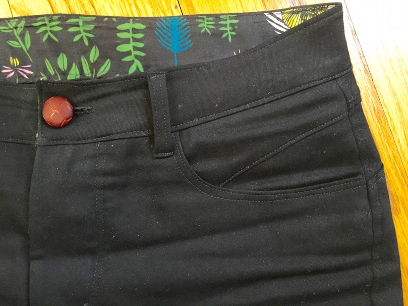 front pocket detail