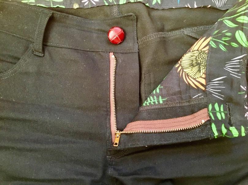 homemade jeans zipper