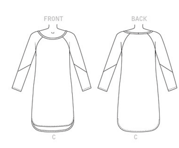 butterick b6207 line drawings