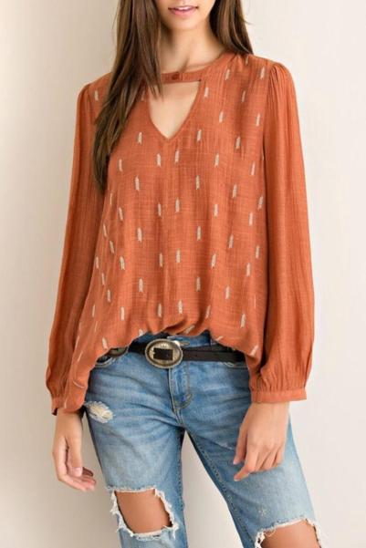 Entro v-neck blouse