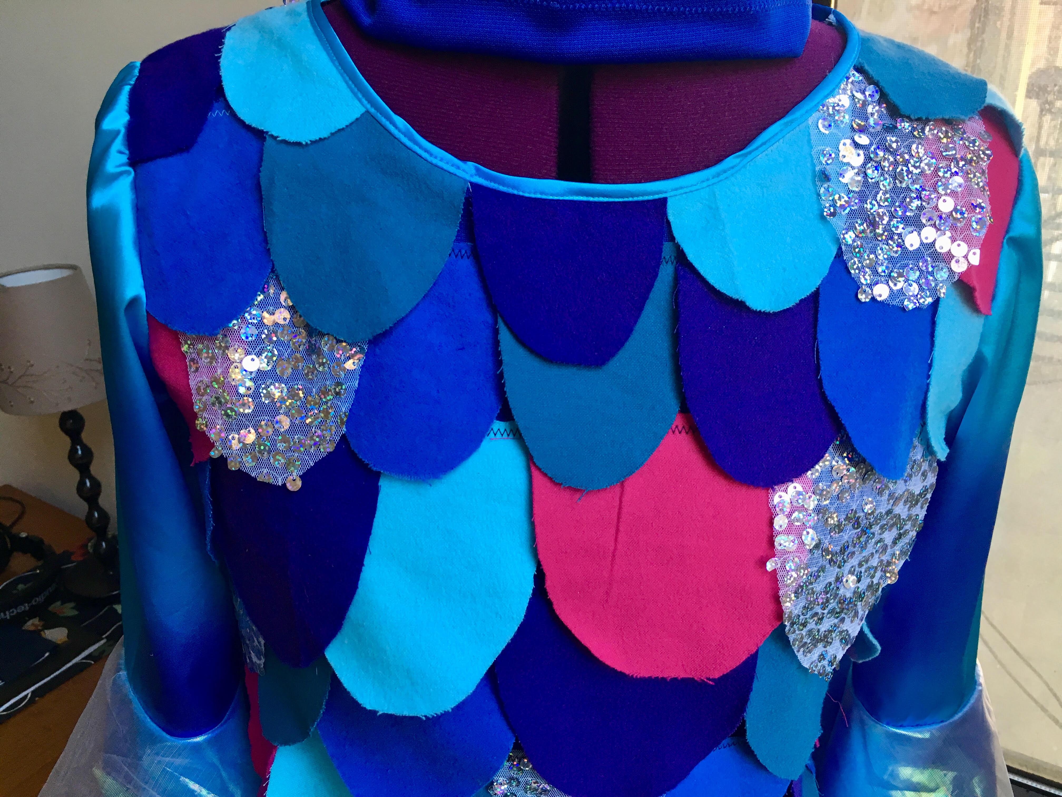 Head fin! rainbow fish costume front & Happy Halloween from Rainbow Fish! u2013 Sewing u0026 Cocktails