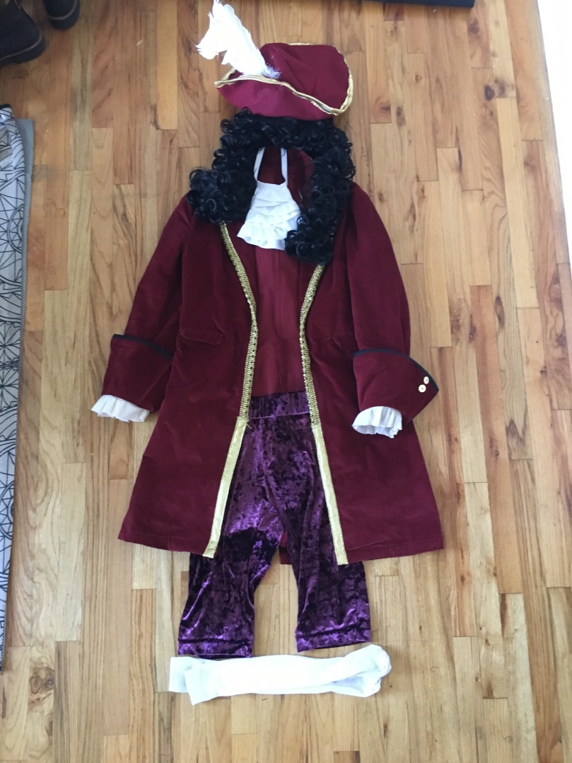 anatomy of a DIY captain hook costume