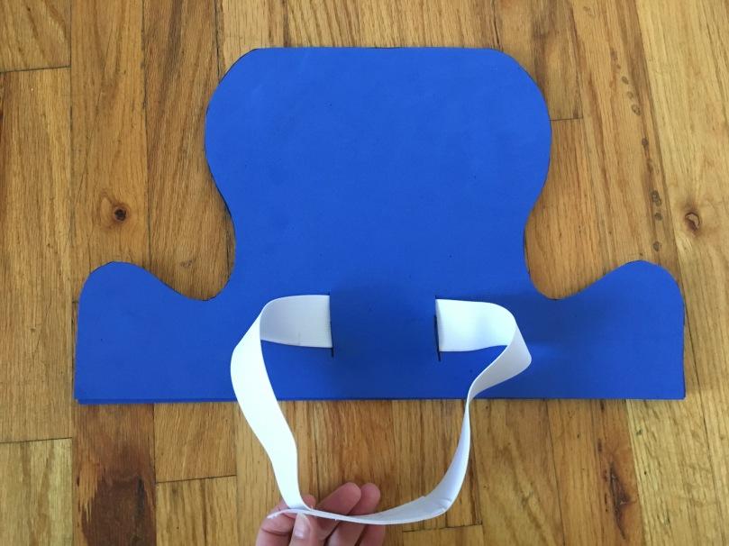 DIY capn crunch foam hat