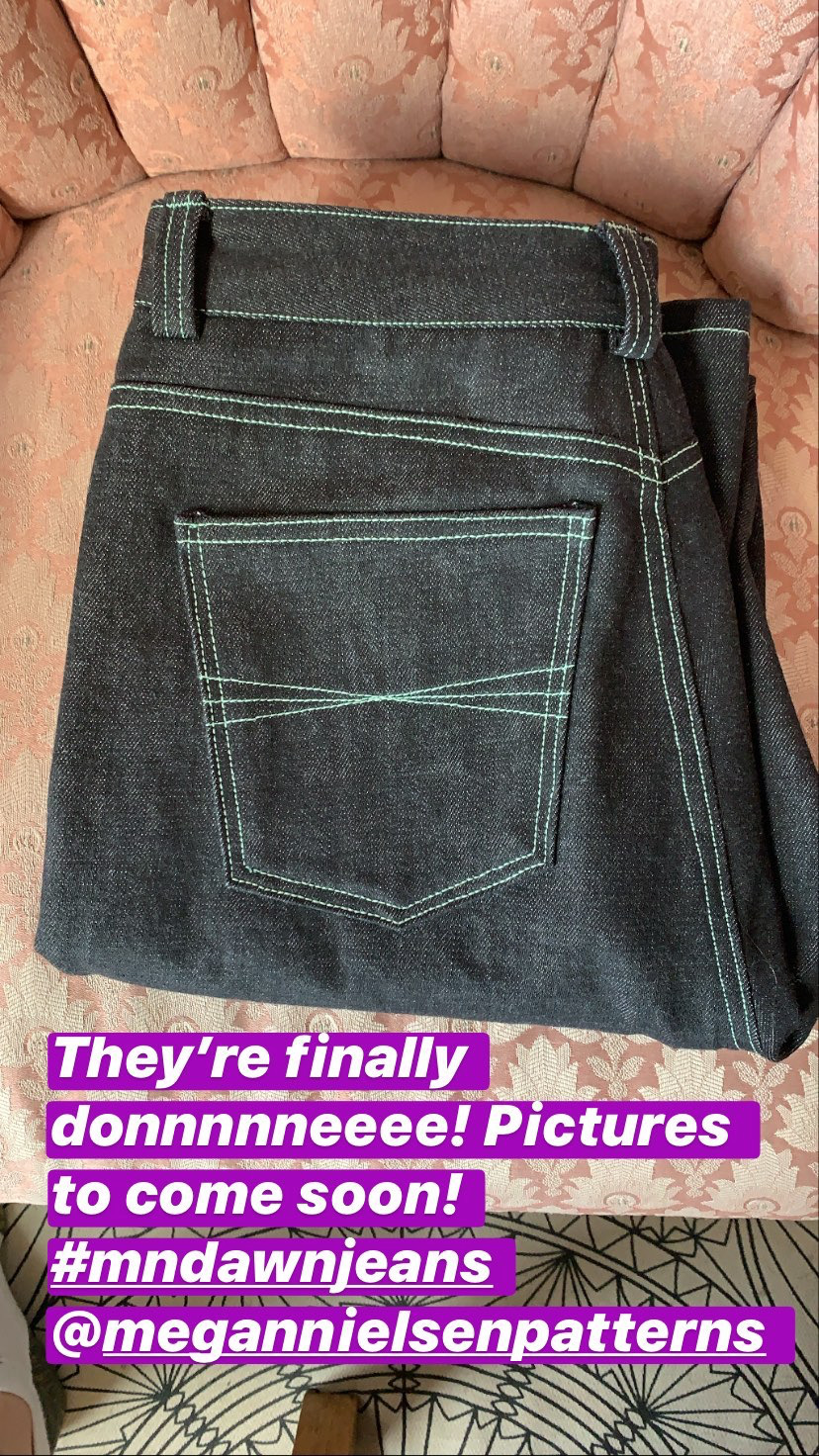Insta post of MN dawn jeans